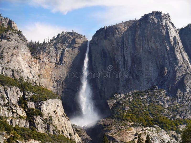 Yosemite Valley Mountains Falls, US National Parks. Scenic landscape, Yosemite Falls and mountains in Yosemite Valley. Yosemite National Park, California. U.S stock photography