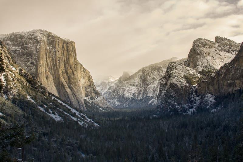 Yosemite Valley Sepia royalty free stock photos