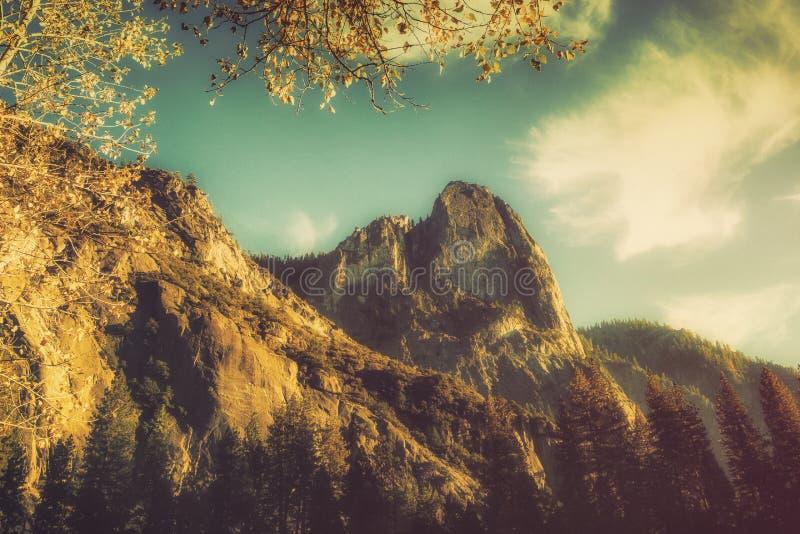 Yosemite Valley Sunset royalty free stock image