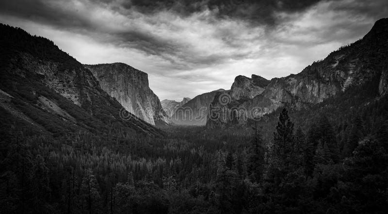 Yosemite Valley from Tunnel View royalty free stock photo