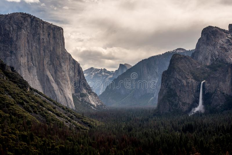 Yosemite Valley from Tunnel View Point royalty free stock photo