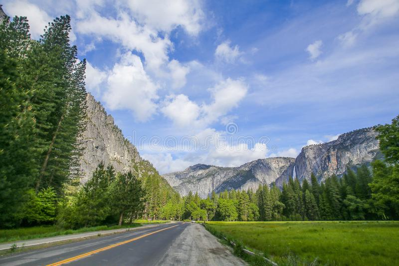 Yosemite Valleyl widok zdjęcie royalty free