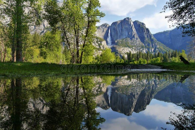 Download Yosemite Waterfall Reflection In Water Stock Photo - Image: 83251958
