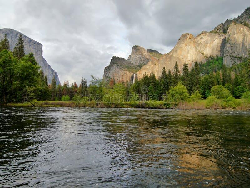 Download Yosemite Waterfall Reflection In Water Stock Photo - Image of mountain, yosemite: 83272452