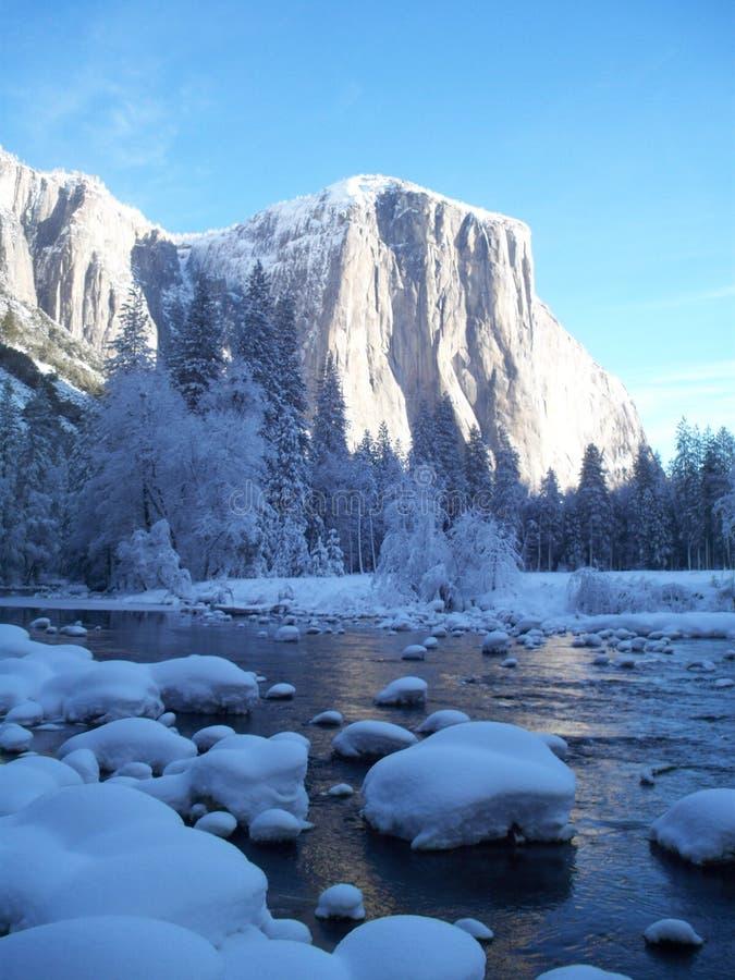 YOSEMITE zimy kraina cudów zdjęcie stock