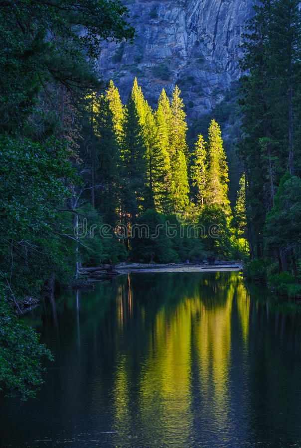Yosemitebezinning royalty-vrije stock fotografie
