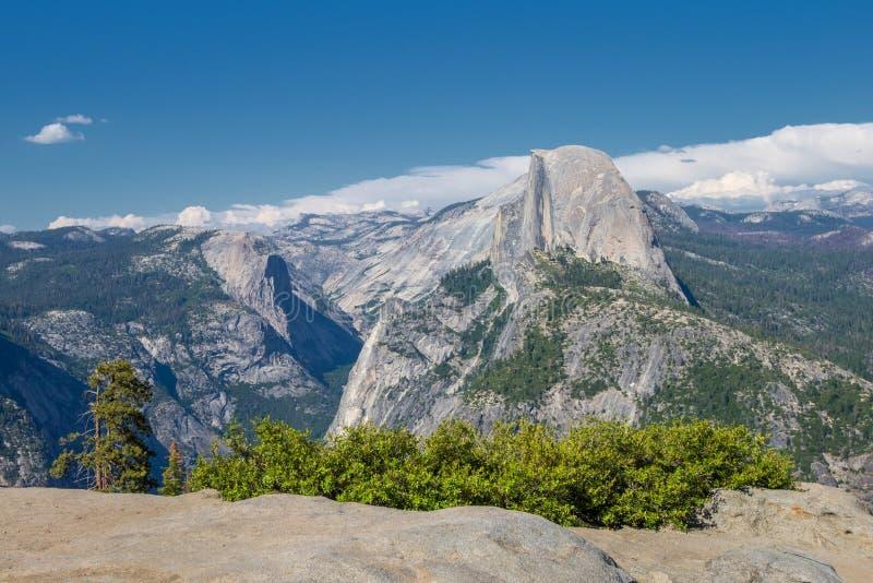 Yosemitevallei van het uitzichtpunt van het Gletsjerpunt royalty-vrije stock foto's
