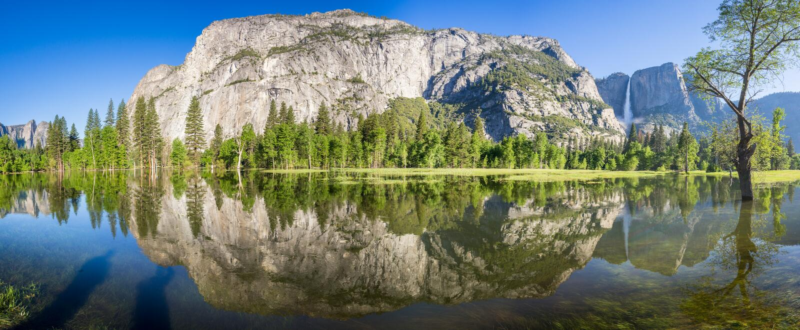 Yosemitewaterval stock foto's