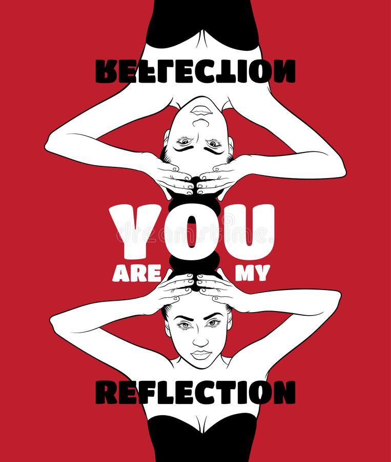 Free You Are My Reflection. Quote Typographical Backgroung Royalty Free Stock Images - 107770999