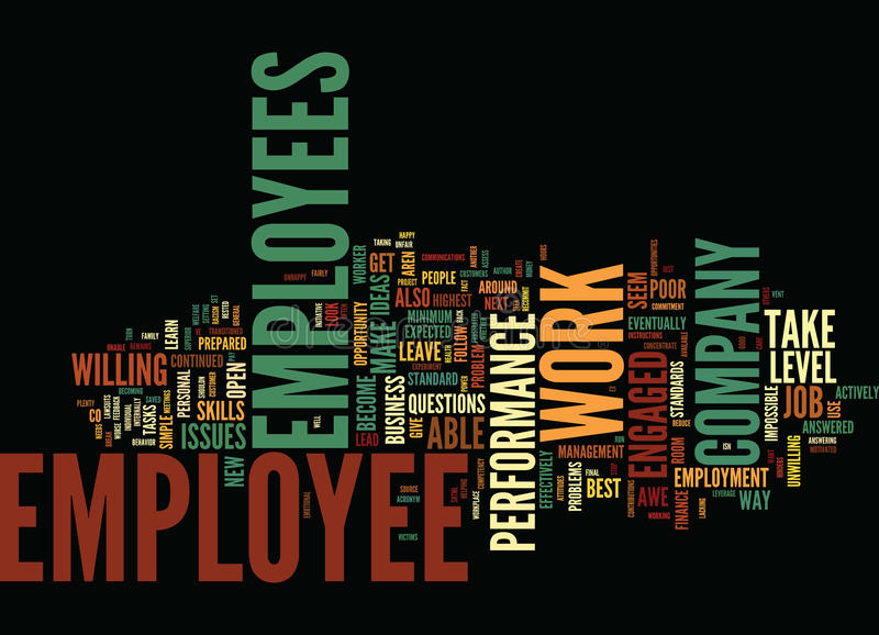 Are You In Awe Of Your Employees Word Cloud Concept. Are You In Awe Of Your Employees Text Background Word Cloud Concept stock illustration