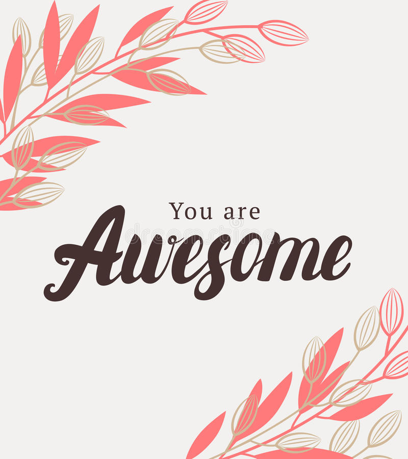 You are awesome quote. vector illustration