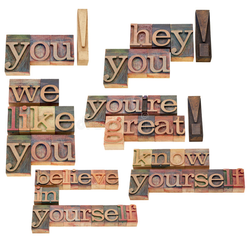 Download You, Believe In Yourself Exclamation Stock Image - Image: 21147167
