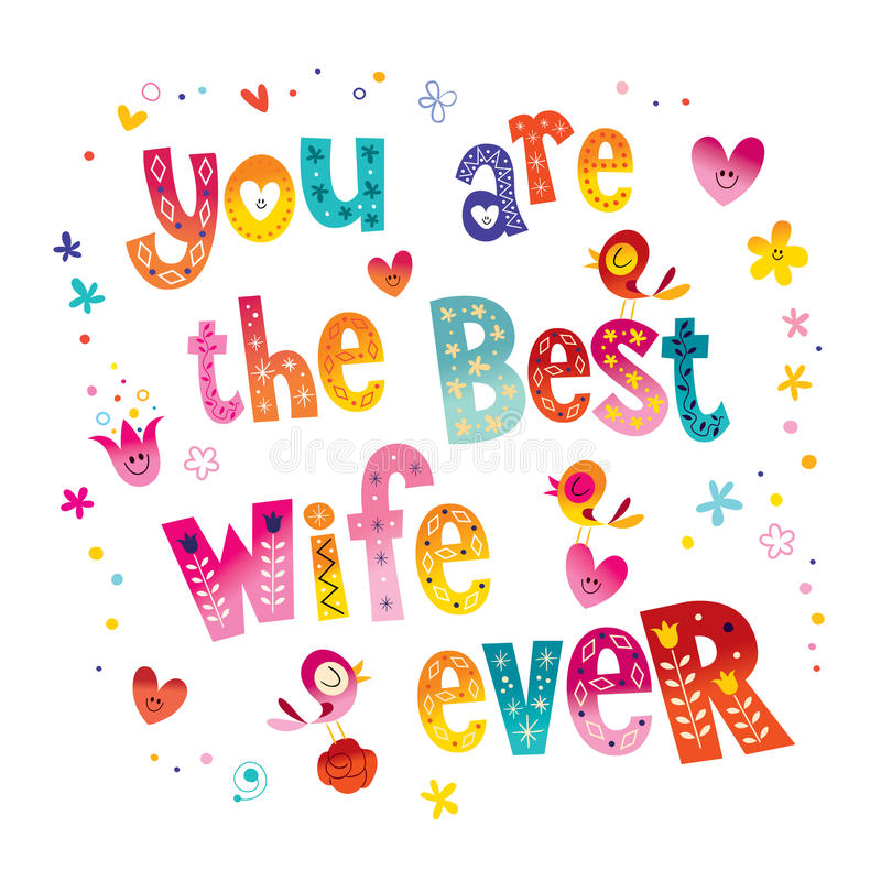 You are the best wife ever vector illustration