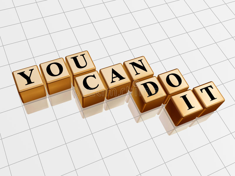 You can do it golden stock illustration
