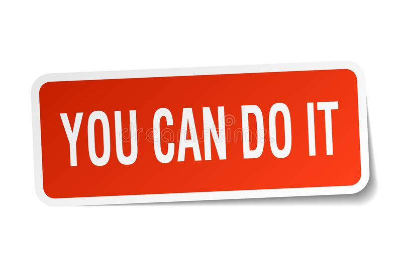 you can do it sticker royalty free illustration