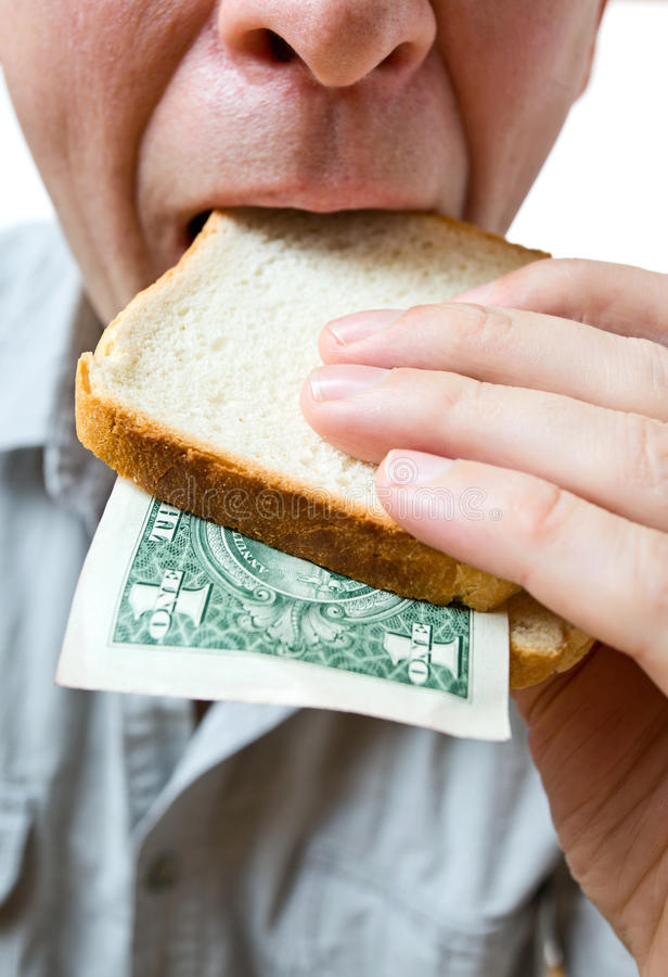 Download That You Can Place In A Sandwich - Your Money. Stock Image - Image: 22045703