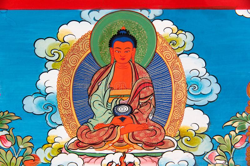 Tibetan Thangka Painting: The Merger of an Art and a Culture stock images