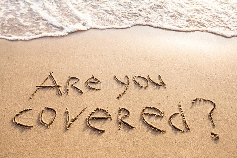 Are you covered, travel insurance concept royalty free stock images