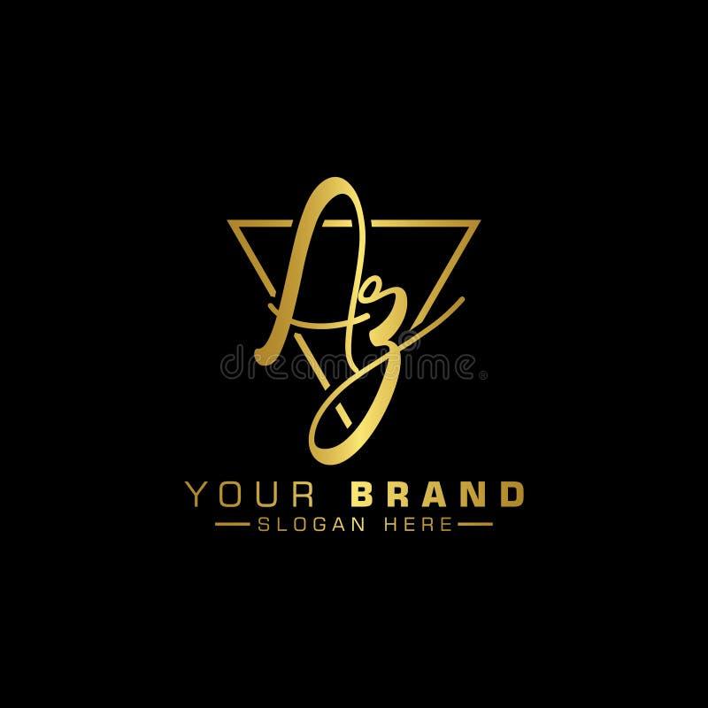 AZ Letter Logo Design With Creative Modern Trendy