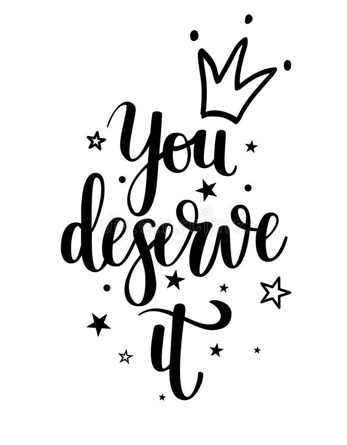 You deserve it vector princess calligraphy stock vector download you deserve it vector princess calligraphy stock vector illustration of motivational decorative altavistaventures Choice Image