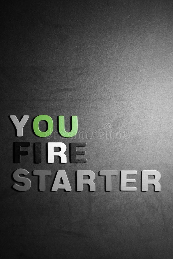 You fire starter royalty free stock image