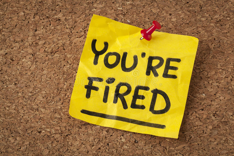 Download You are fired note stock image. Image of reminder, fired - 31906323