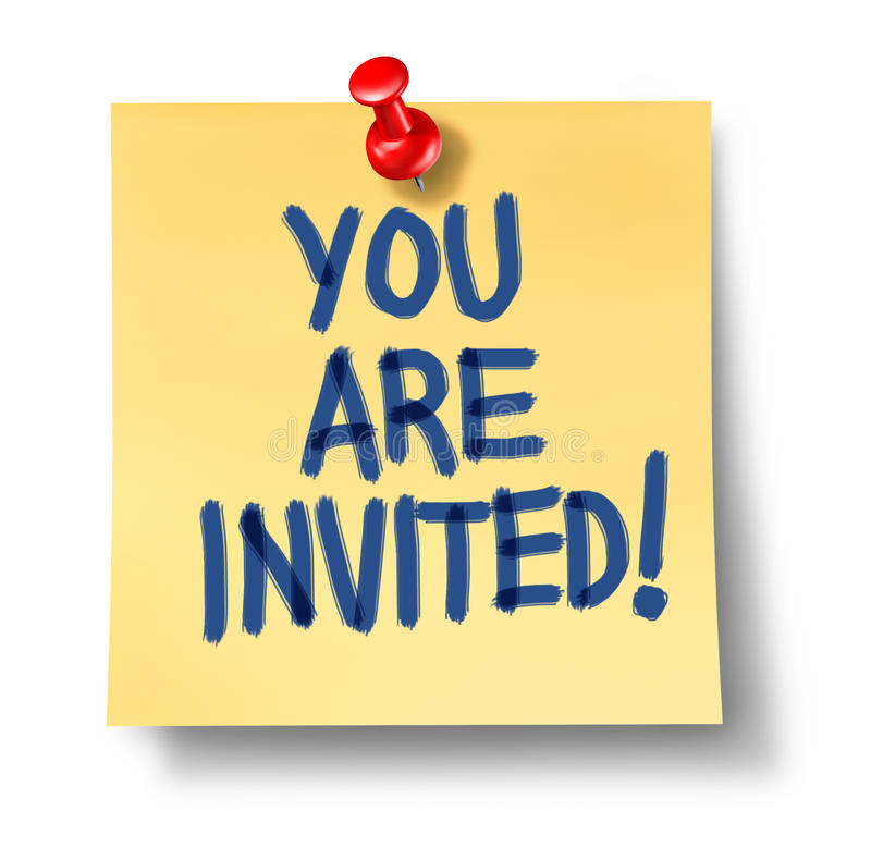 You Are Invited Office Note Yellow Paper Stock