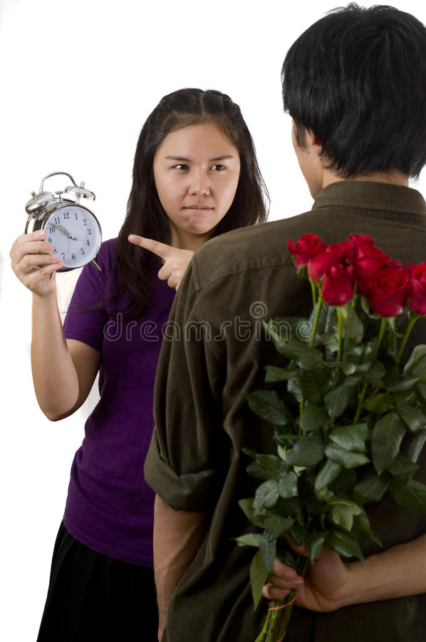 Download You are late stock photo. Image of frowning, thai, upset - 16218876