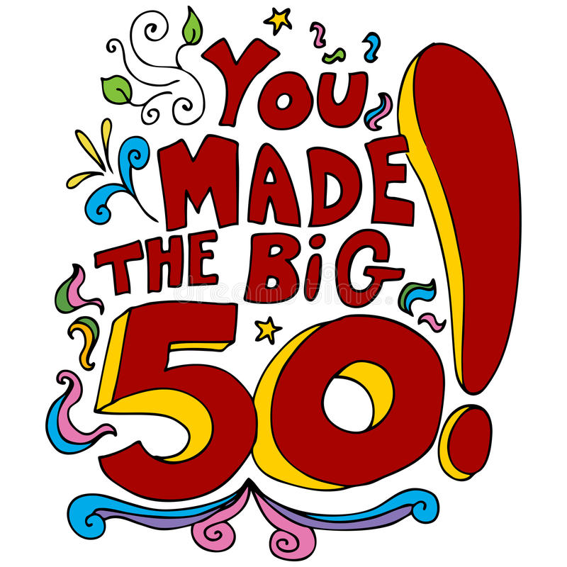 You Made The Big 50. An image of a 50th happy birthday message