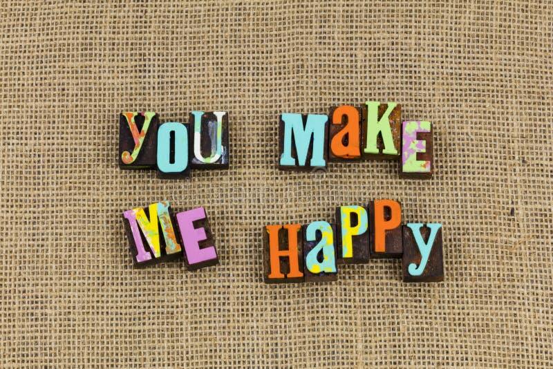 You make me happy love stock photo