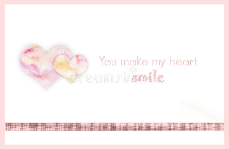 You make my heart smile template stock photo