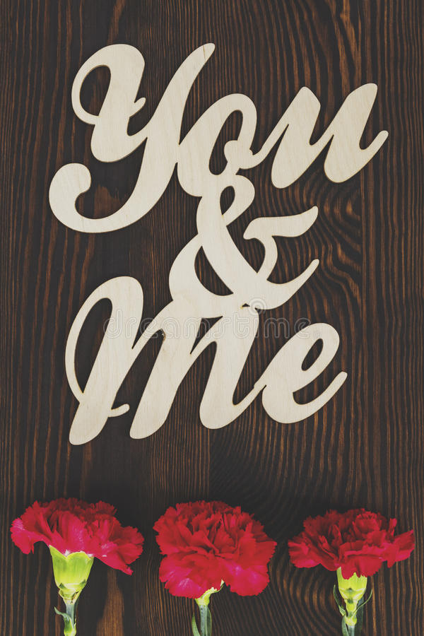 You and me royalty free stock image