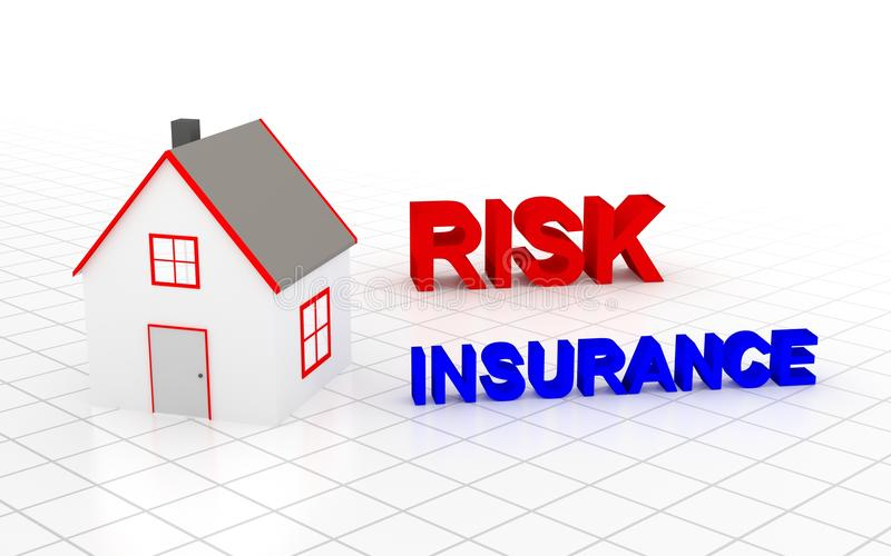 You must choose house insurance. 3D rendering royalty free illustration