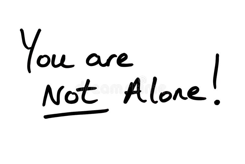 You are NOT Alone stock illustration. Illustration of diary - 169511383