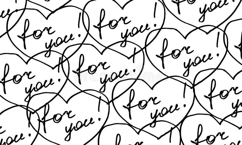 `for you!` pattern. For wrapping paper and packaging stock illustration