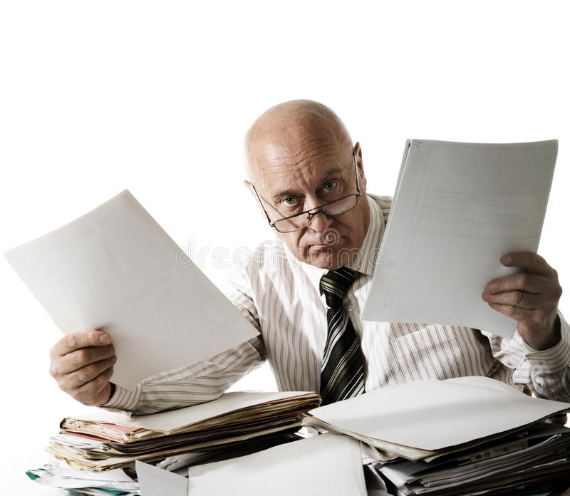 At you a problem with documents! stock image