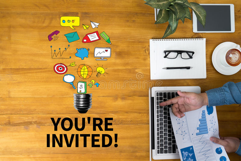 YOU'RE INVITED! stock photography
