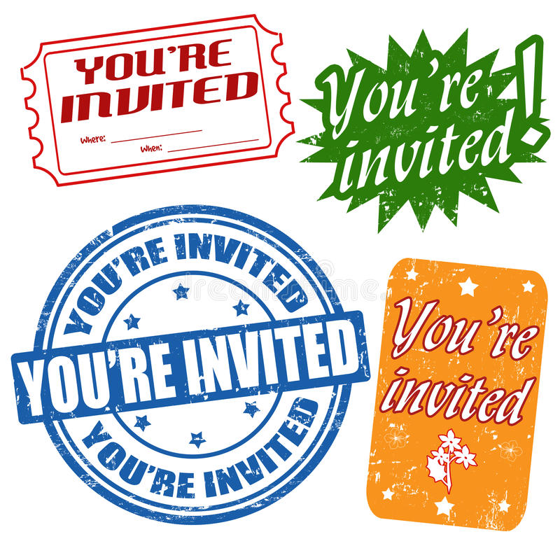 Download You're Invited Stamps Royalty Free Stock Images - Image: 30893939