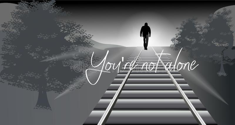 You`re not alone vector illustration