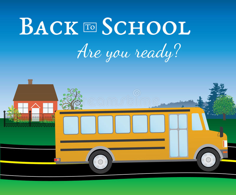 Are you ready for back to school stock image