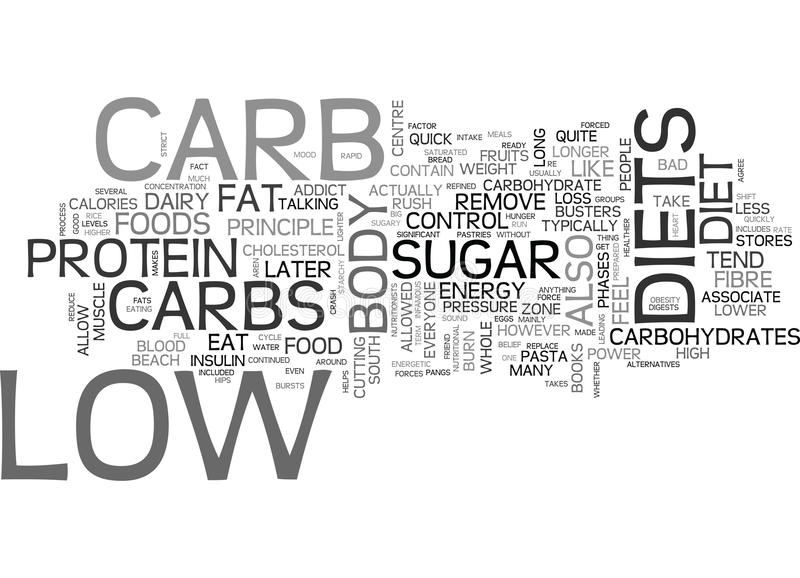 Are You Ready For Low Carb Word Cloud stock illustration