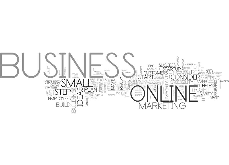 Are You Ready For A Successful Online Business Word Cloud stock illustration