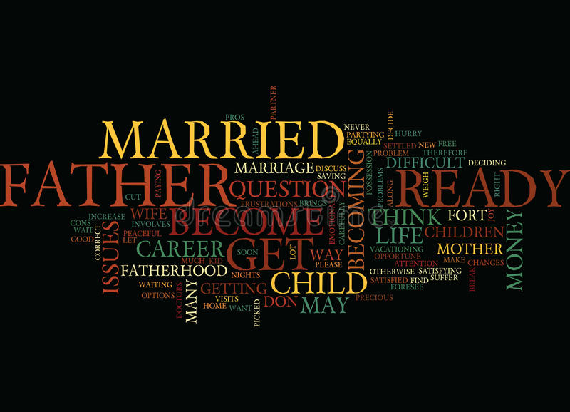 Are You Ready To Be A Father Word Cloud Concept royalty free illustration