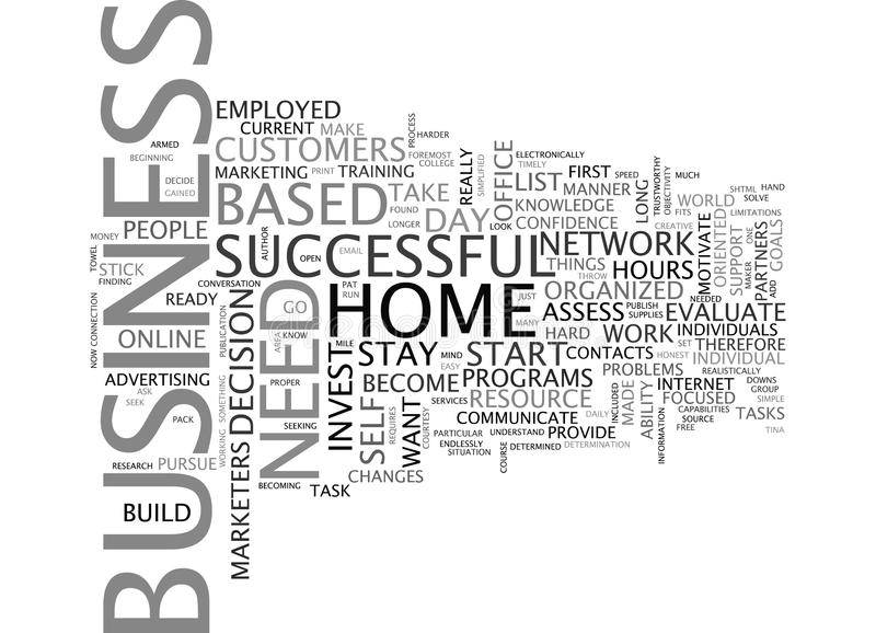 Are You Ready To Start A Home Based Business Word Cloud Concept royalty free illustration