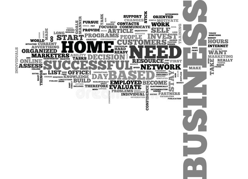 Are You Ready To Start A Home Based Businessword Cloud royalty free illustration