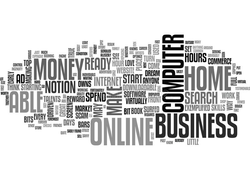 Are You Ready To Start An Online Home Business Word Cloud stock illustration