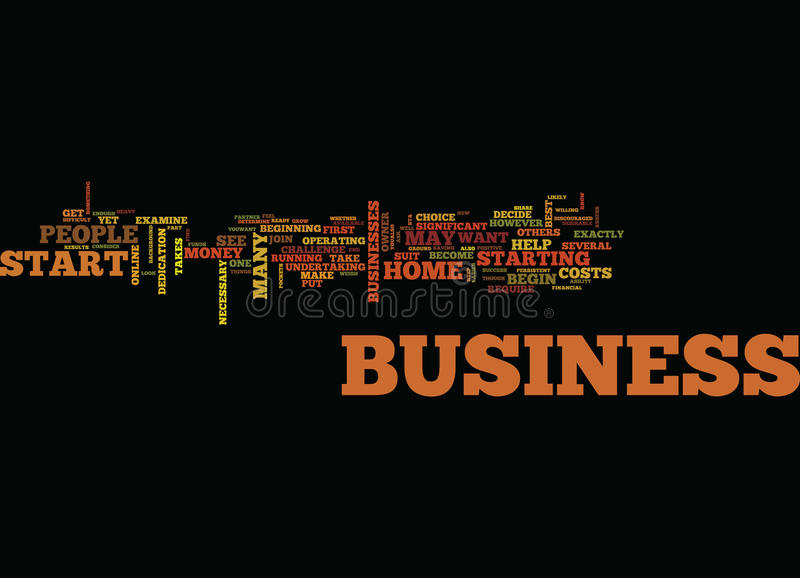 Are You Ready To Start Your Own Home Business Word Cloud Concept royalty free stock photos