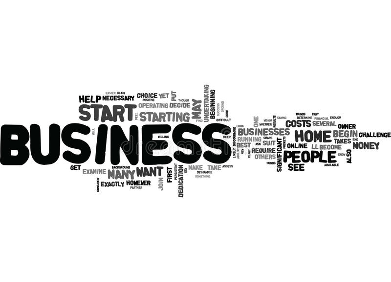 Are You Ready To Start Your Own Home Businessword Cloud royalty free illustration
