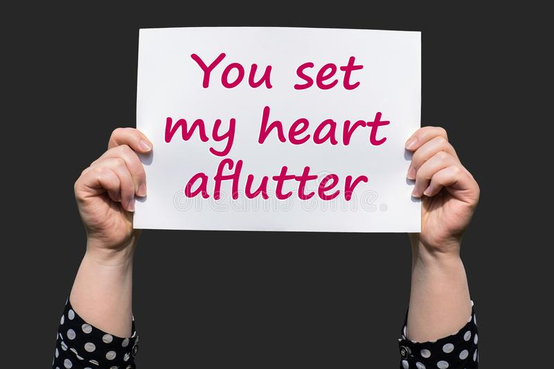 You set my heart aflutter royalty free stock image