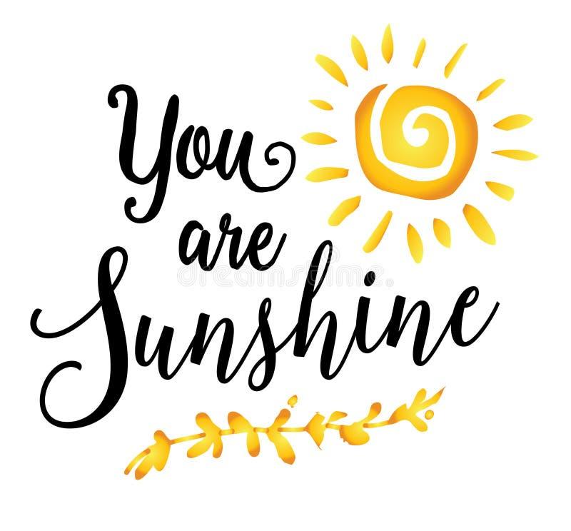 You are Sunshine royalty free illustration